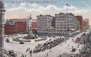 New York Buffalo Trolleys On Main Street and Lafayette Square
