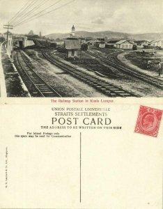 straits, Malay Malyasia, KUALA LUMPUR, Railway Station (1910s) Postcard