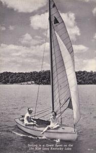 Sailing ; 184 mile long Kentucky Lake , 1930s