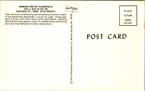 Pennsylvania PA Clearfield Ramada Inn Postcard Old Vintage Card View Standard PC