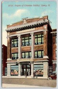 Quincy Illinois~(Catholic) Display Windows~Knights of Columbus Building~1912 PC