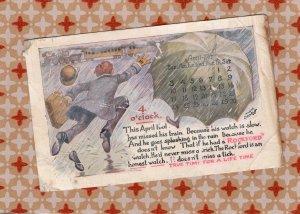 Rockford Watch Advertising Antique / Vintage Postcard, Train Calendar April 1910