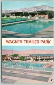 Desert Hot Springs California~Wagner Trailer Park~2 Views~Pool~RVs~1950s