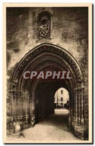 Old Postcard Avignon Popes' Palace L & # 39entree Arms of Pope Clement VI