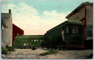 Salem, Ohio Postcard Interurban Cars on Elsworth Ave. Trolley Streetcar 1911
