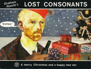 Graham Rawle's Lost Consonants - Humor - Pun - Merry Christmas and Happy New Ear