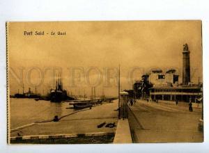 190654 EGYPT PORT SAID LIGHTHOUSE quay Vintage postcard