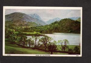 UK England British Keswick nr Derwentwater Bassenthwaite Head Ullswater Postcard