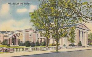The First Baptist Church Of Richmond, Virginia, 1930-1940s