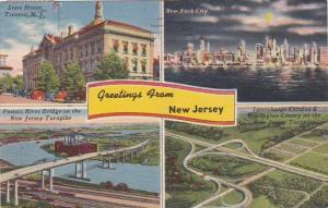 New Jersey Greetings From With Multi View 1955