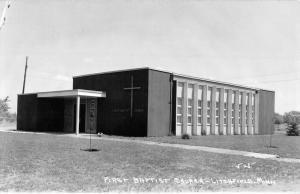 Litchfield Minnesota First Baptist Church Real Photo Antique Postcard K97851