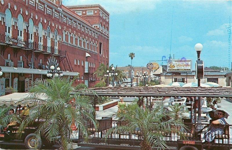 Ybor City Florida~Latin Quarter~Tourist Area and Shops~1950s Postcard
