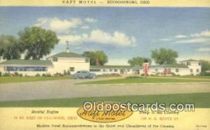 Haft Motel, Reynoldsburg, Ohio, OH USA Hotel Postcard Motel Post Card Old Vin...