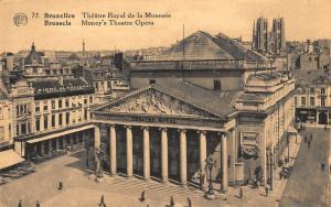 Belgium Brussels Money's Theatre Opera Bierre Alsacienne Postcard