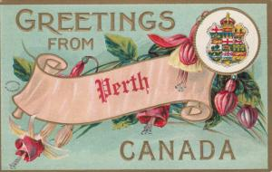 PERTH, Ontario, Canada, PU-1911; Embossed Greetings
