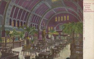 MILWAUKEE, Wisconsin, 1900-10s; Interior of Schlitz Palm Garden