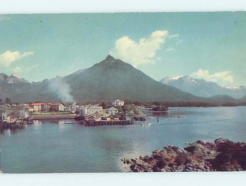 1940's PANORAMIC VIEW OF TOWN Sitka Alaska AK hp6906