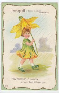 FLOWER GIRLS # 1, 1900-10s; Jonquil, I desire a return of affection, Poem