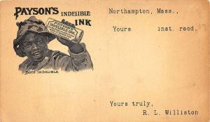 Northampton MA Payson's Indelible Ink Both in Delible Postcard