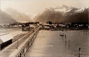Valdez AK Alaska Motor Coach Bridge Unused Real Photo Postcard E62