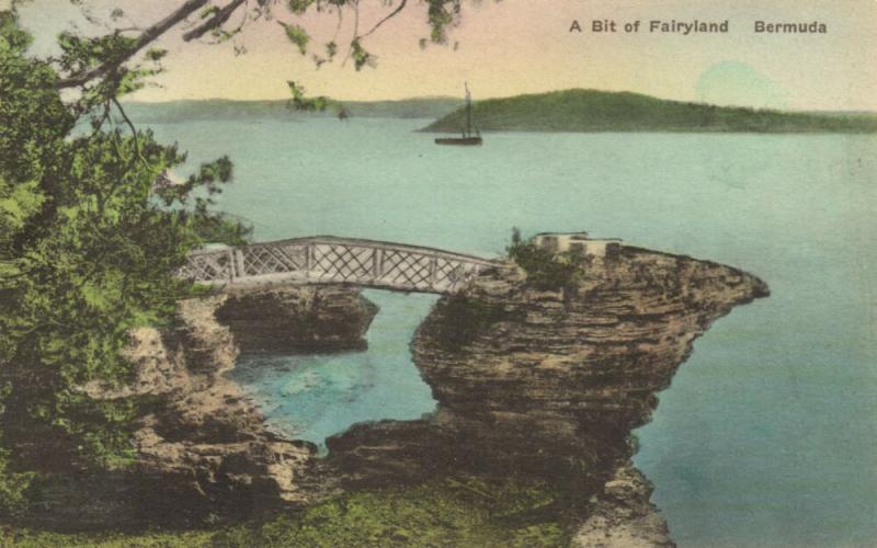 bermuda, A Bit of Fairyland (1930s) Hand-Colored