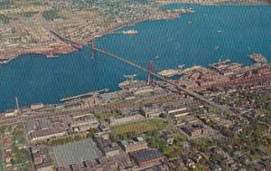 Canada Nova Scotia Halifax Air View Of Angus L Macdon Bridge