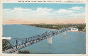 New Ohio River Bridge, Connecting Evansville, Indiana and Henderson, Kentucky...