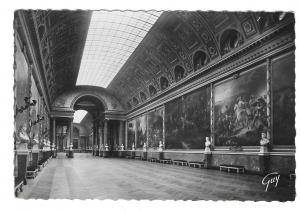 France Chateau Versailles Gallery of Battles GUY Glossy Photo Vntg 4X6 Postcard