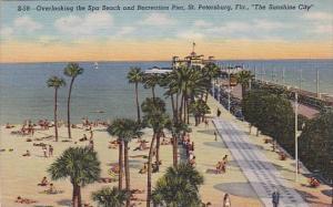 Florida Saint Petersburg Overlooking The Spa Beach and Recreation Pier Saint ...
