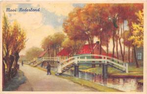 B94511 mooi nederland netherlands postcard painting