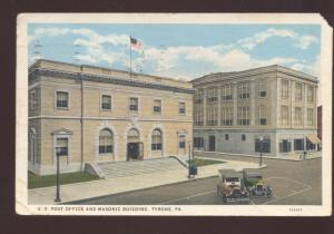 TYRONE PENNSYLVANIA PA. UNITED STATES POST OFFICE VINTAGE POSTCARD PA. U.S.