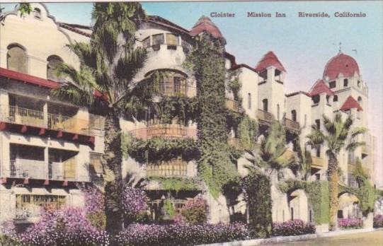 California Riverside Mission Inn The Cloister Handcolored Albertype