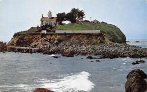 Crescent City California~Light House~1960 Postcard