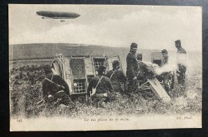 Mint France Real Picture Postcard WWI Shooting Practice And Dirigible Balloon