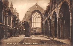 uk38952 the nave holyrood abbey church scotland real photo uk lot 19 uk