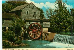 Postcard North Carolina Charlotte Old Water Mill Little Pigeon River  # 2909A