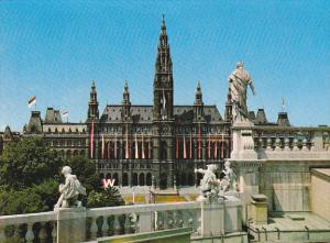 Austria Vienna Wien Town Hall View From Burgtheater