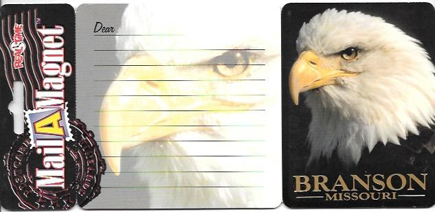 US Mail A Magnet Postcard. Great photo of Eagle with magnet on back. Mint