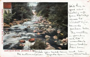 Glen Ellis River, Jackson, New Hampshire, Early Postcard, Used in 1904