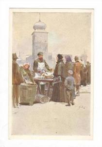Czech Republic, 1910s  Street Fish Seller.