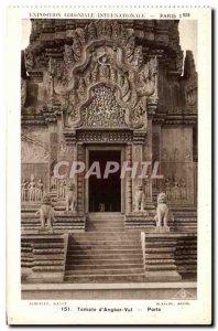 Old Postcard Paris International Colonial Exposition Paris 1931 Temple Angkor...