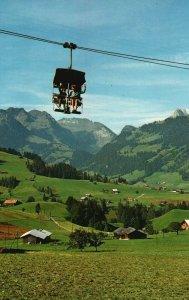 Vintage Postcard Gstaad Sessellift Wasserngrat Photo Wehrill AG Zurich