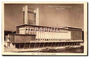 Old Postcard Exhibition Paris 1937 intenationale radio Pavilion