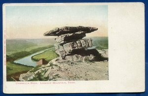 Umbrella Rock Lookout Mountain old 1900s postcard