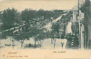 09553 - CARTOLINA d'Epoca - TRAPANI: MARSALA - VILLA GARIBALDI