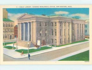 Unused Linen LIBRARY SCENE New Bedford Massachusetts MA hs2210-23