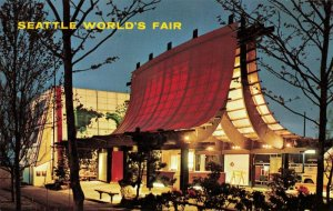 Postcard Seattle World's Fair Information Booth