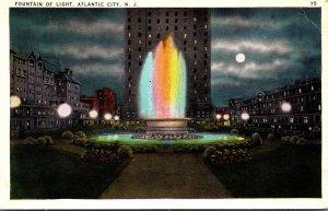 New Jersey Atlantic City Fountain Of Light By Night