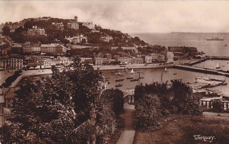 RP, Panorama, Boats, Torquay (Devon), England, UK, PU-1924