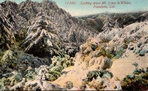 California Pasadena Looking Down Mount Lowe In Winter